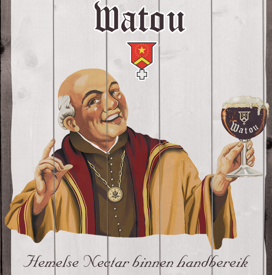 wall board st bernardus in cardboard with wood effect
